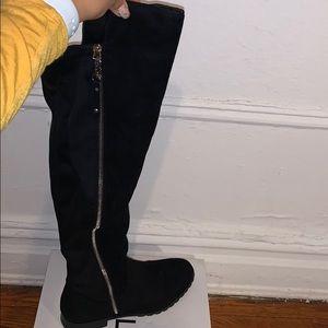 Aldo Prova Black Over the Knee Boots